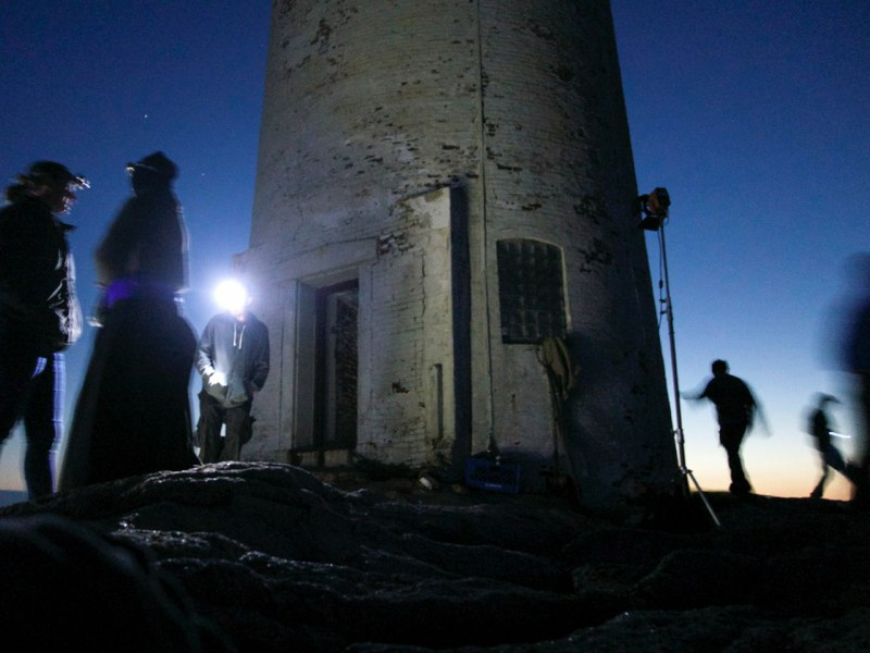 A nightshoot on the set of To Keep The Light, Moose Peak Lighthouse, Mistake Island.