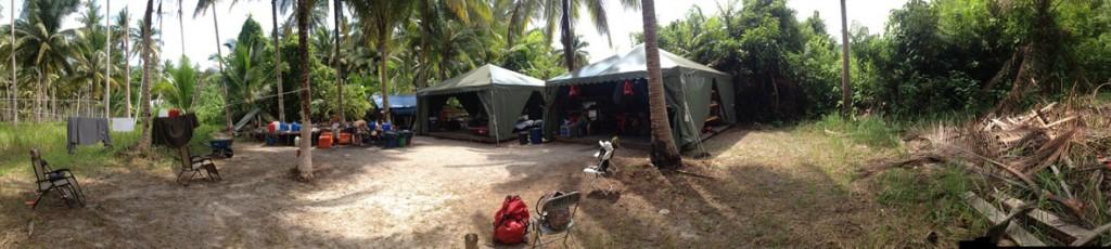 Camera camp on the set of Survivor Cambodia.